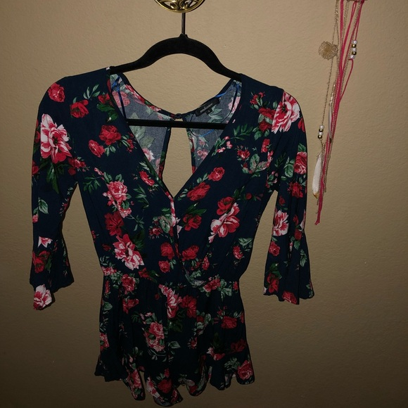 Ambiance Dresses & Skirts - Super cute floral romper!